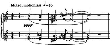First phrase of #2 from Ned Rorem's Eight Etudes for Piano